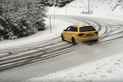 Video: What Better To Do On A Snow Day, Than Go Drifting With Your Monstrous Audi Rs4!