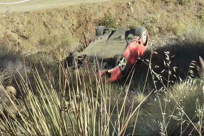 Video: Ferrari 360 Loses Control On Curvy Road And Crashes Off Embankment!