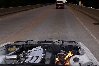 Video: Turbo Bmw Catches Fire While Going 192km/h! Owner Doesn't Give A Damn!