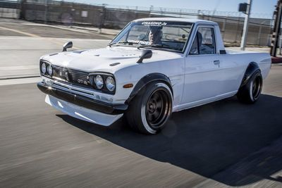 Video: Jay Leno Tests Out This Sema Sensation, The Amazing Datsun 1200 Ute!