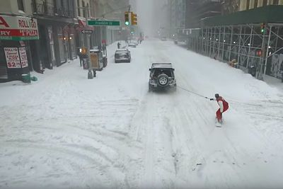 Video: What Do You Do When Are The Roads Are Covered In Snow? Take Our Your Jeep And Get Your Snowboard Out Of Course!
