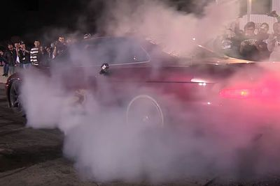 Video: That Moment You Do Such A Badass Burnout That Your Brakes Catch On Fire!