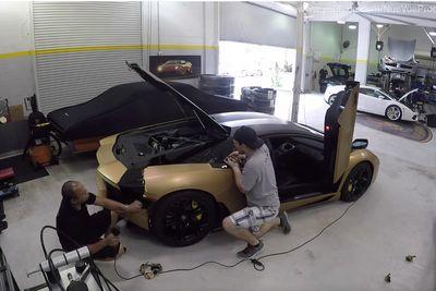 Video: Unwrapping A Lamborghini Aventador.