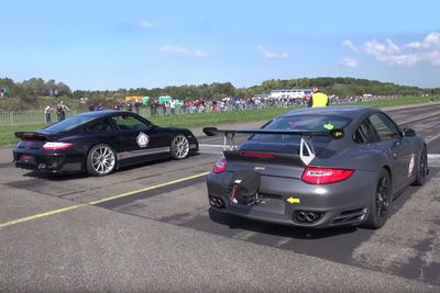 Video: Epic Porsche Drag Racing Twosome And A Lonely Gt-r!