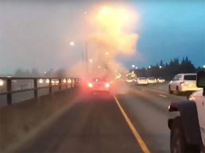 Video: Hysterical Guy Starts Screaming Like A Little Girl When His New Mercedes Catches Fire!