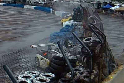 Video: Watch A Porsche & Corvette Wipe Out At Sebring And Slam Into The Wall!