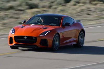 Video: Watch F&f's Michelle Rodriguez Hit 201mph In A Jaguar F-type Svr