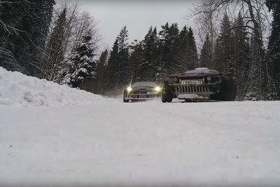 Video: Drifting In A Winter Wonderland! ' Watch As A Corvette Has A Drift Battle With A Supra, Deep In The Snowy Russian Forrest!