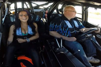 Video: Can This Hottie Handle A Ride In A 2500hp Street Car?