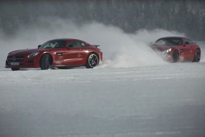 Video: Famous Band Linkin Park Tear The Amg Gt S Through Snow