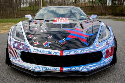 This Guy Made A Bernie Sanders Art Car Out Of A $100,000 Corvette Z06