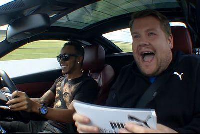 Video: James Corden Interviews Lewis Hamilton While He Drives A Sl63 Amg In Anger!