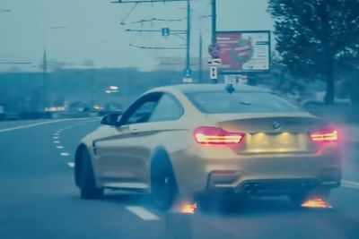 Video: Bmw M4 Drifts Until There's Nothing Left To Drift, In The Streets Of Moscow!