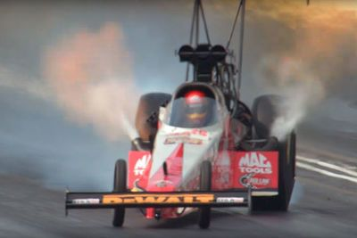 Video: How Did Doug Kalitta Keep His Flame Spitting 10,000 Horsepower Top Fuel Monster Straight After It Got Loose?
