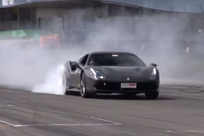 Video: Ferrari 488 Gtb Shocks Crowd With Massive Donuts And Rolling Burnout!