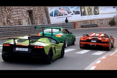 Video: Squad Goals - Koenigsegg Agera R, Lamborghini Aventador And Porsche Panamera Cruising In Monaco!