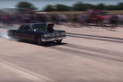 Video: Ever Seen A Supercharged Chevy Impala Drag Car Become A Tractor?! Watch This!