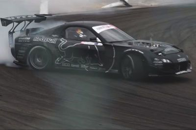 Video: Mad Mike Dominates Formula Drift Japan In His Gnarly Twin Turbo 4 Rotor Rx-7!