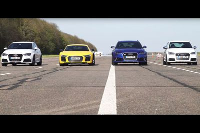 Video: The Ultimate Audi Drag Race & Something Extra.