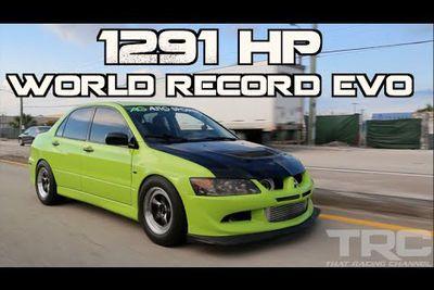 Video: Mitsubishi Evo Sets World Record With 1291hp