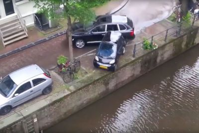 Video: Porsche Rams Smart Car Into Canal During Car Chase