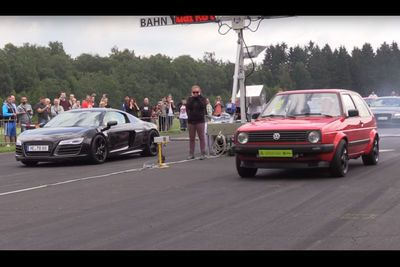 Video: Watch A Mk2 Vw Golf Annihilate An Audi R8 In A Dismal Way!