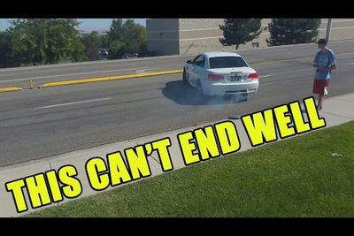 Video: Lucky M3 Idiot Leaving Cars And Coffee Just Misses Causing A Huge Crash!