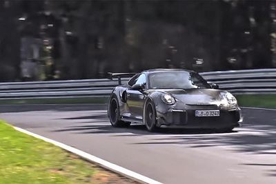 Video: New Porsche 911 Gt2 Rs Spotted Testing At N`rburgring