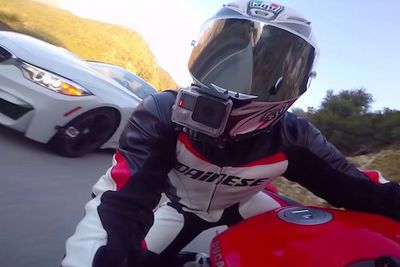 Video: A Convertible Bmw M4 Tries To Take On The Legend Himself, Max Wrist, On His 2016 Ducati 959 Panigale, And Finds Out Cars Can't Corner Like Bikes The Hard Way!