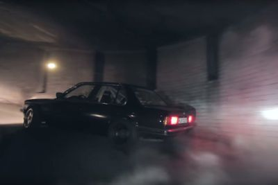 Video: Watch A Bmw E30 Drift Up Eight Stories In An Old Abandoned Lithuanian Spiral Parking Lot, Mixing Dust And Smoke All The Way To The Top!