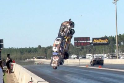 Video: We Have Lift Off! ' Stevie Jackson Just Had A Terrifying Crash At 'no Mercy 7', The Biggest And Baddest Drag Radial Race In The World, And It Was All Caught On Drone Camera!