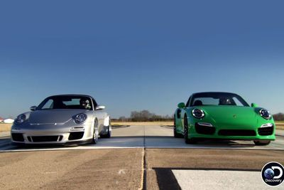 Video: Fast N Loud Junkyard Ls-swap Porsche Vs New 911 Turbo S