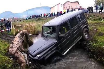 Video: Crazy Rich Bastard Thrashes His Mercedes G63 Amg In An Off-road Demonstration