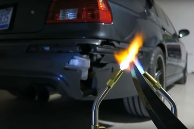 Video: What Happens When You Mate A 1000 Degree Knife To A Bmw M5?