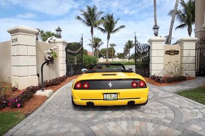 Video: Man Builds Insanely Luxurious $50 Million Mansion, Includes An Underground Drive-thru Garage Filled With Ferraris!
