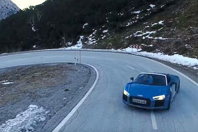 Video: An Audi R8 And A Twisty Open Mountain Pass. What Could Be Better?