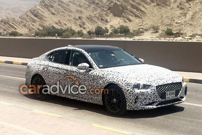 2018 Genesis G70 Sedan Spied Spotted Shots!