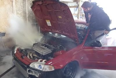 Video: Get Ready To Get Steamy...while This Honda Civic Gets Ready To Explode!