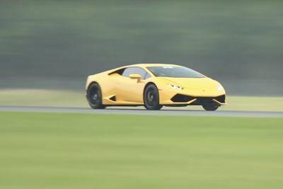 Video: Twin-turbo Lamborghini Sets Half-mile World Record...