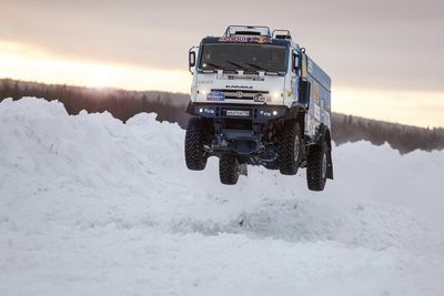 Video: Watch A Kamaz Truck Power Through The Snow!
