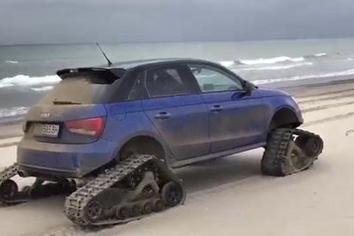 Video: This Audi S1 Tank Is The Ultimate Beach Buggy