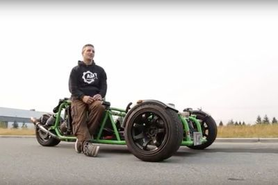 Video: Can This Ninja 900r-powered Custom Trike Even Be Legal?