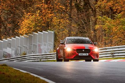 Video: Jaguar Nails A New Nurburgring Record With Its Xe Sv Project 8