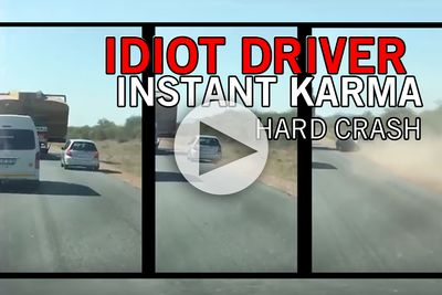 Video: Idiot Driver gets Instant Karma
