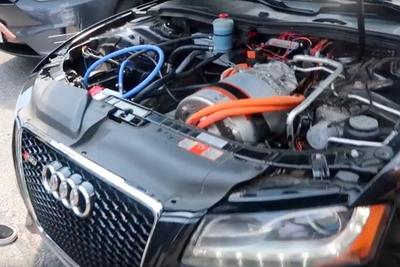 Worlds First Tesla Powered Audi... What?