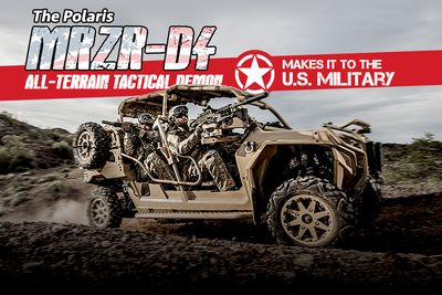 The Polaris Mrzr-d4 All-terrain Demon Makes It To The Us Miltary