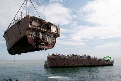 Sunken Ship Containing 1,400 Cars Pulled From The Ocean Floor!