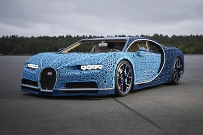 Lego creates full-size, driveable Bugatti Chiron replica