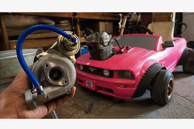 Turbocharging A Child's Barbie Car