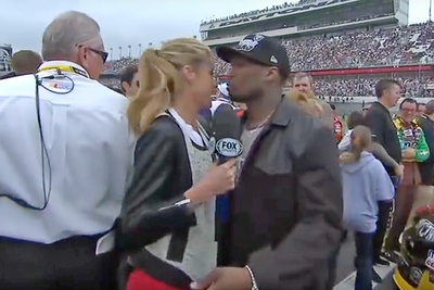 50 Cent Makes Things Very Awkward For Nascar Reporter Erin Andrews